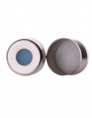 18mm Headspace Mag Cap, Wht Ptfe/Blu Sil
